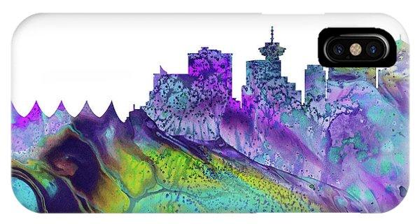 Vancouver Skyline iPhone Case - Vancouver Skyline by Erzebet S