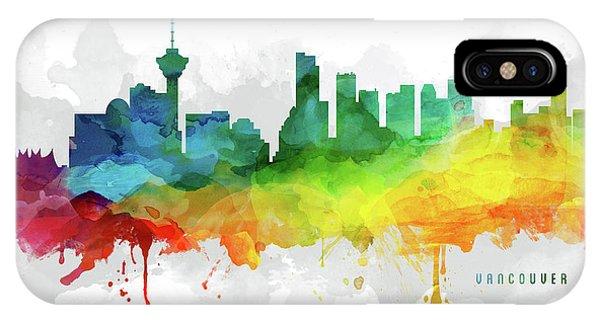 Vancouver City iPhone Case - Vancouver Skyline Mmr-cabcva05 by Aged Pixel