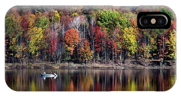 Vanishing Autumn Reflection Landscape IPhone Case