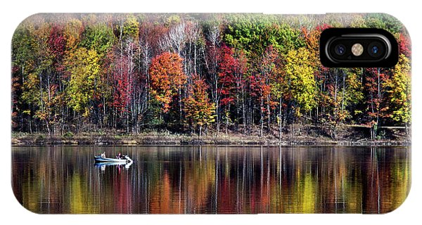 Vanishing Autumn Reflection Landscape IPhone Case