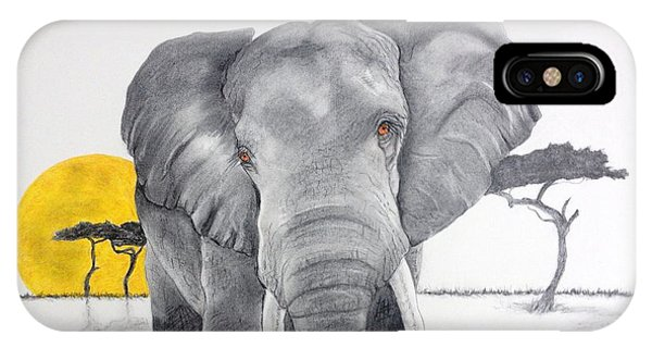 Vanishing Elephant IPhone Case