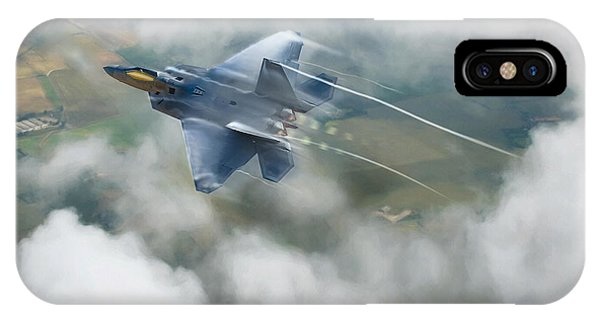 Explosion iPhone X Case - Vaping Raptor by Peter Chilelli