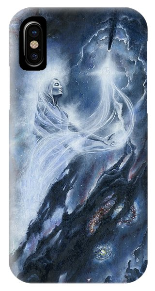 IPhone Case featuring the painting Varda Of The Stars by Kip Rasmussen