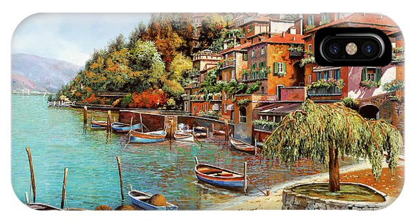Lake iPhone X Case - Varenna On Lake Como by Guido Borelli