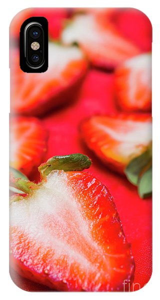 Dessert iPhone Case - Various Sliced Strawberries Close Up by Jorgo Photography - Wall Art Gallery