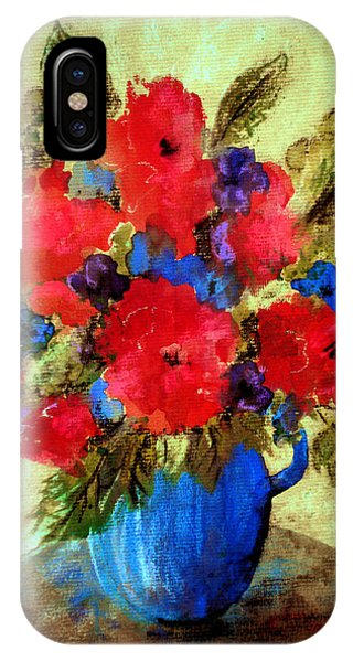 Vase Of Delight-still Life Painting By V.kelly IPhone Case