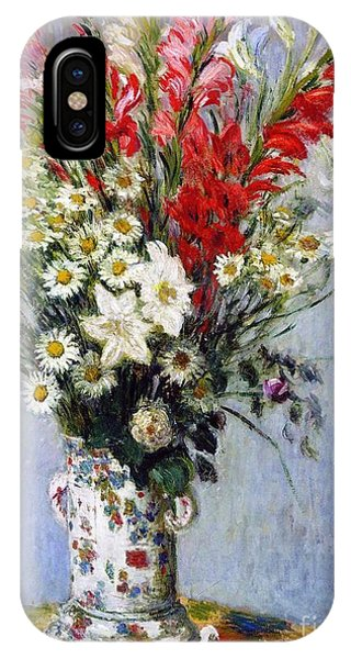 Botany iPhone Case - Vase Of Flowers by Claude Monet