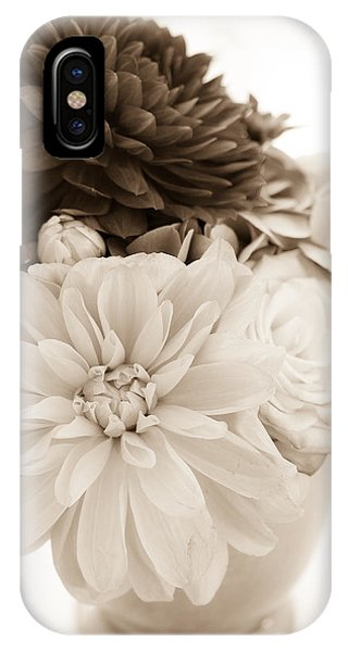 Vase Of Flowers In Sepia IPhone Case