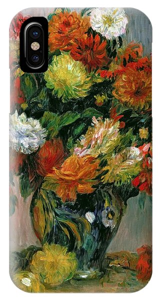 Horticulture iPhone Case - Vase Of Flowers by Pierre Auguste Renoir