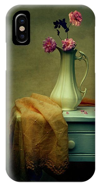 Vase Of Pink Roses IPhone Case