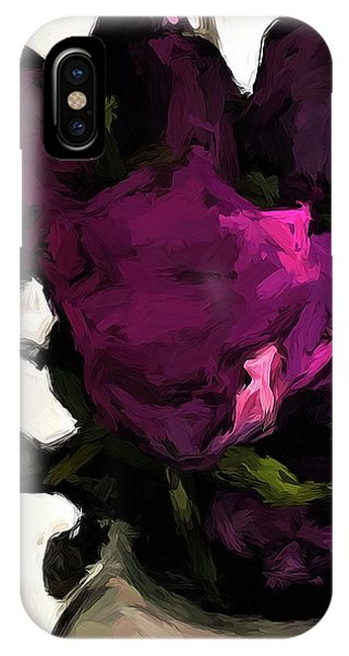 Vase Of Roses With Shadows 1 IPhone Case