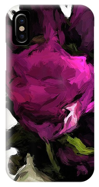Vase Of Roses With Shadows 2 IPhone Case