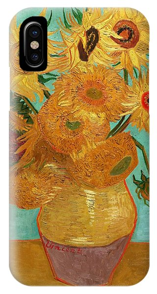 IPhone Case featuring the painting Vase With Twelve Sunflowers by Van Gogh
