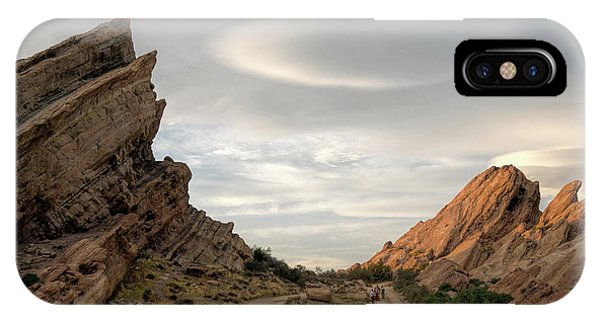 Vasquez Rocks Late Afternoon Phone Case by Michael Hope