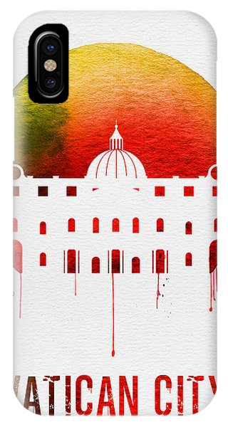 Italy iPhone Case - Vatican City Landmark Red by Naxart Studio