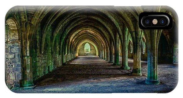 Vaulted, Fountains Abbey, Yorkshire, United Kingdom IPhone Case