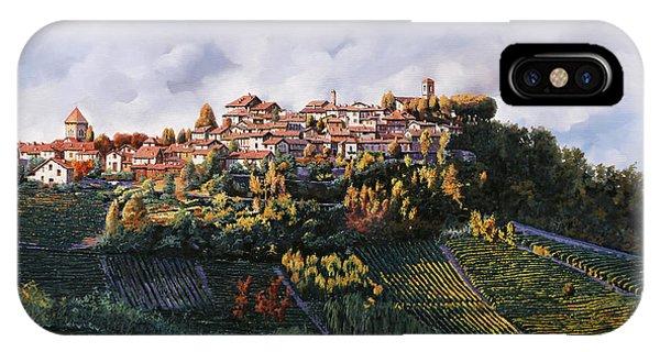 Vino iPhone Case - veduta di Verduno by Guido Borelli