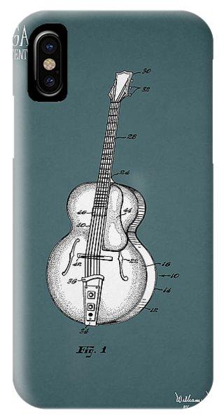 Guitar iPhone Case - Vega Guitar Patent 1949 by Mark Rogan