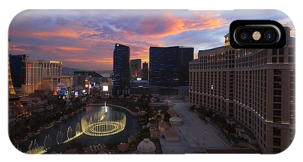 Las Vegas iPhone X Case - Vegas By Night by Chad Dutson