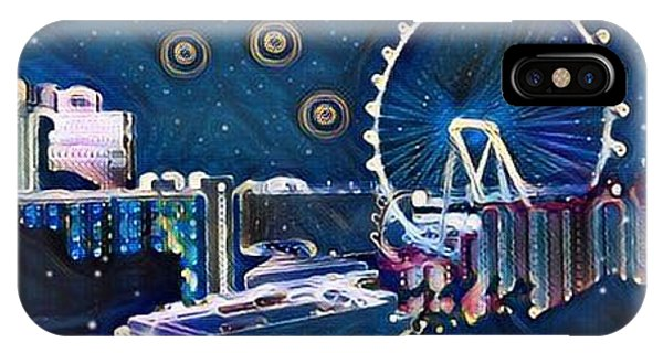 Vegas High Rollin Starry Nite IPhone Case