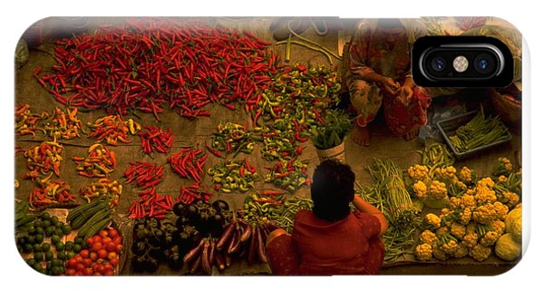Michel Guntern iPhone Case - Vegetable Market In Malaysia by Travel Pics