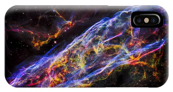 Veil Nebula - Rainbow Supernova  IPhone Case