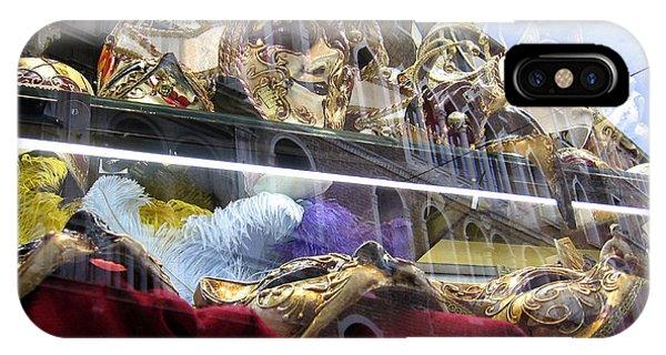 Venetian Carnival Reflections IPhone Case