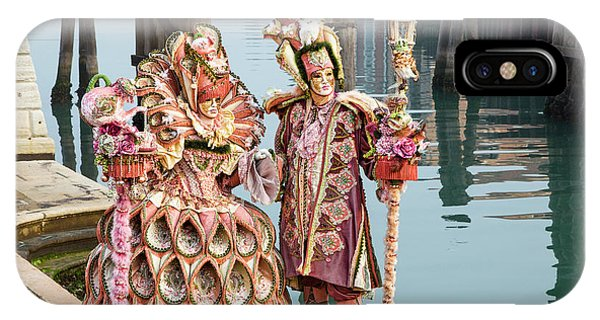 Venetian Couple Along The Canal IPhone Case
