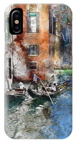 Venetian Gondolier In Venice Italy IPhone Case