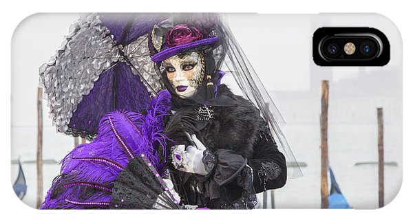 Venetian Lady In Purple IPhone Case