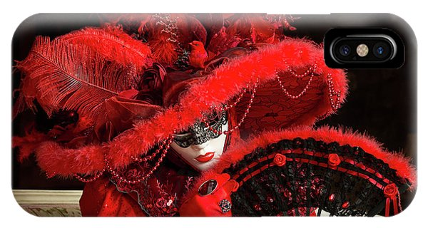 Venetian Lady In Red I  IPhone Case