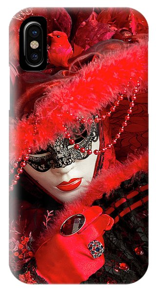 Venetian Lady In Red II  IPhone Case