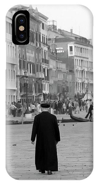 Venetian Priest And Gondola IPhone Case