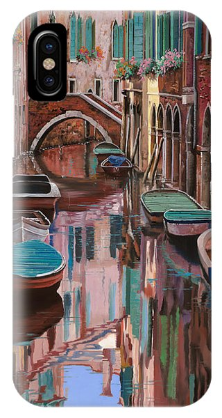 Orange Sunset iPhone Case - Venezia A Colori by Guido Borelli