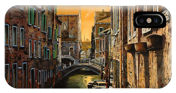 Orange Sunset iPhone Case - Venezia Al Tramonto by Guido Borelli