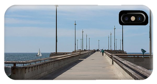Venice Beach iPhone Case - Venice Beach Pier by Ana V Ramirez