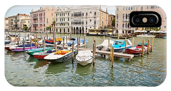 Venice Boats IPhone Case