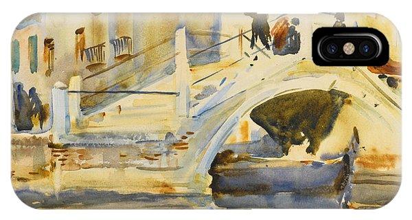 Impressionistic iPhone Case - Venice. Bridge With Figures  by John Singer Sargent