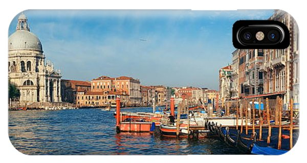 IPhone Case featuring the photograph Venice Grand Canal Boat by Songquan Deng
