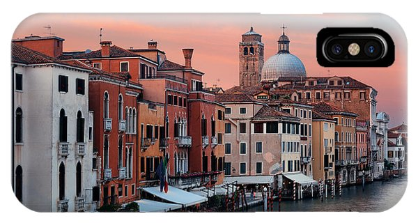 IPhone Case featuring the photograph Venice Grand Canal Gondola by Songquan Deng