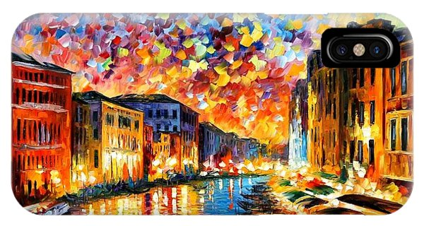 Oil iPhone Case - Venice - Grand Canal by Leonid Afremov