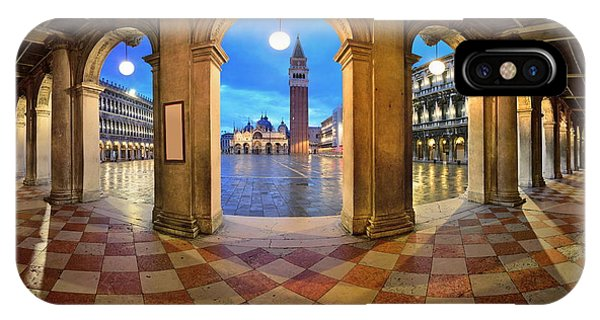 IPhone Case featuring the photograph Venice Hallway by Songquan Deng