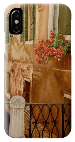 IPhone Case featuring the painting Venice In June by Angeles M Pomata