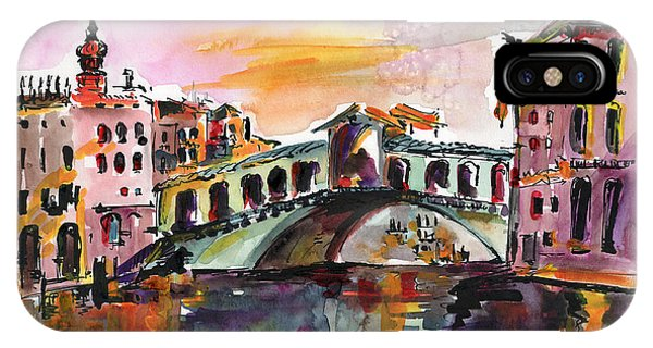 Venice Italy Silence Rialto Bridge IPhone Case