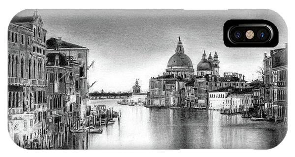 Venice Pencil Drawing IPhone Case