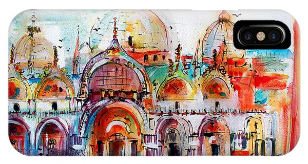 Venice Piazza Saint Marco Basilica IPhone Case
