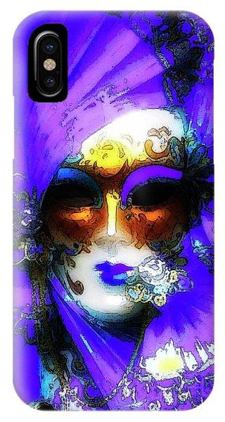 Venice Purple Carnival Mask IPhone Case