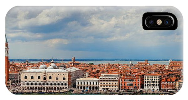 IPhone Case featuring the photograph Venice Skyline Panorama by Songquan Deng