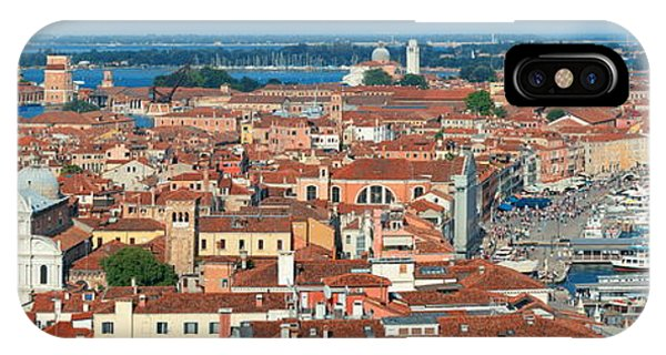 IPhone Case featuring the photograph Venice Skyline Panorama Viewed From Above  by Songquan Deng