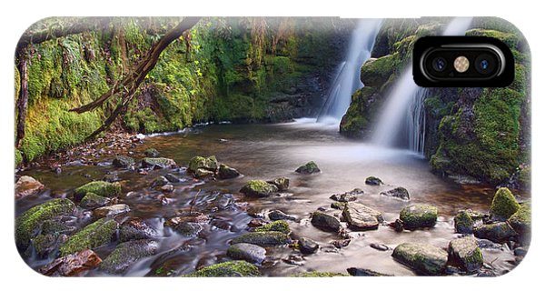 Vennford Waterfall On Dartmoor IPhone Case